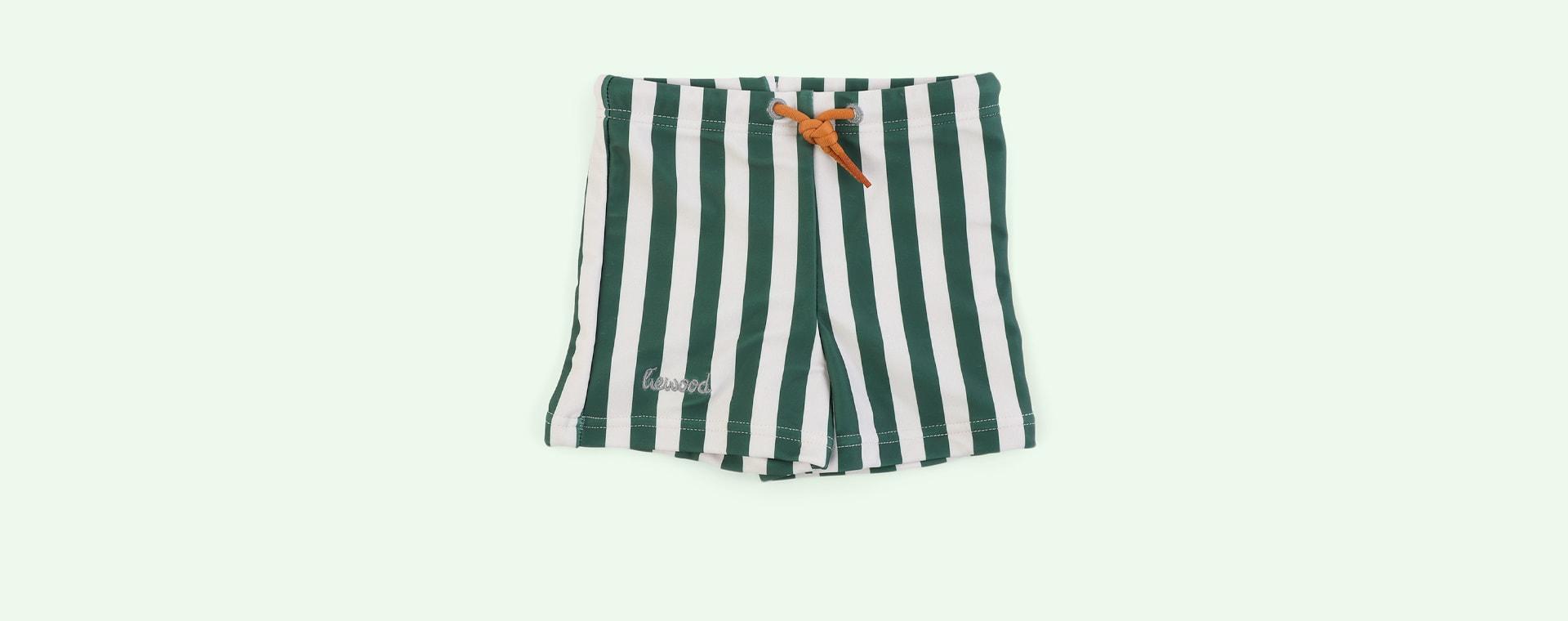 Stripe: Garden green/sandy Liewood Otto Swim Pants