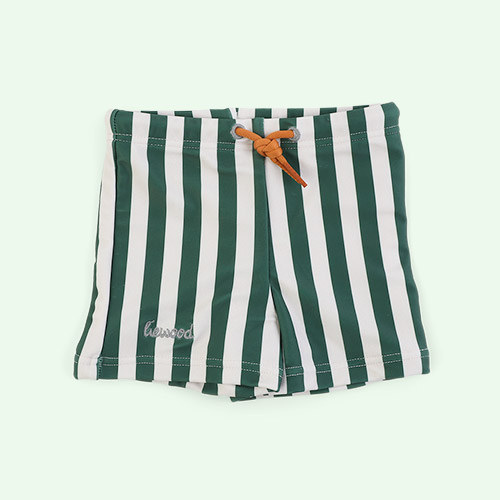 Stripe: Garden green/sandy Liewood Otto Swim Pants