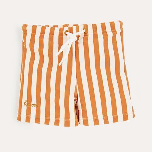 Mustard Stripe Liewood Otto Swim Pants
