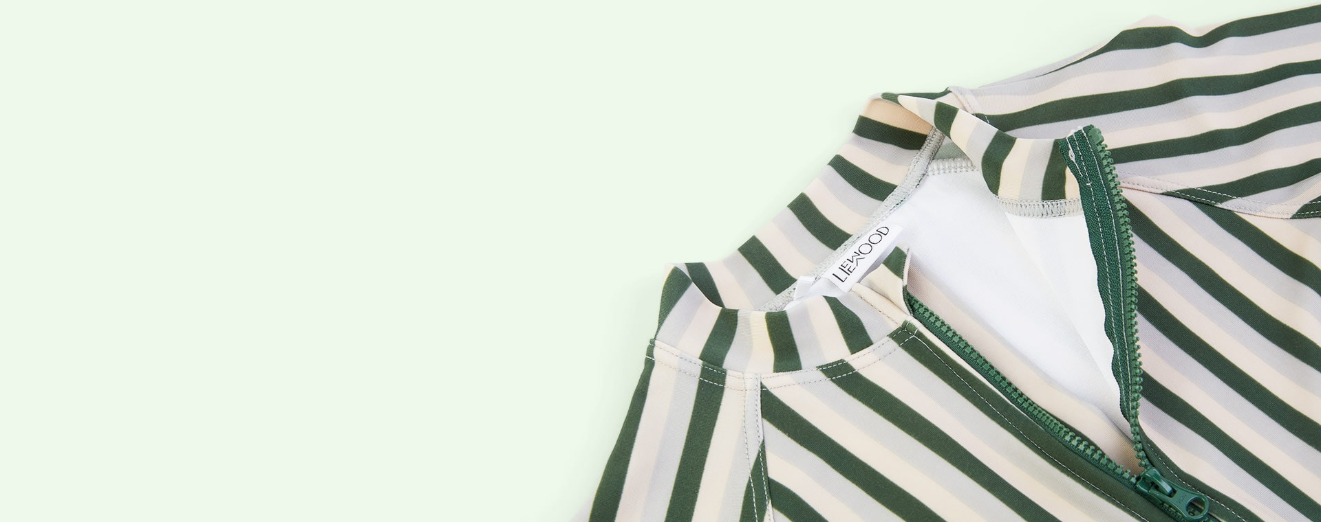 Stripe: Garden green/sandy/dove blue Liewood Max Swim Jumpsuit