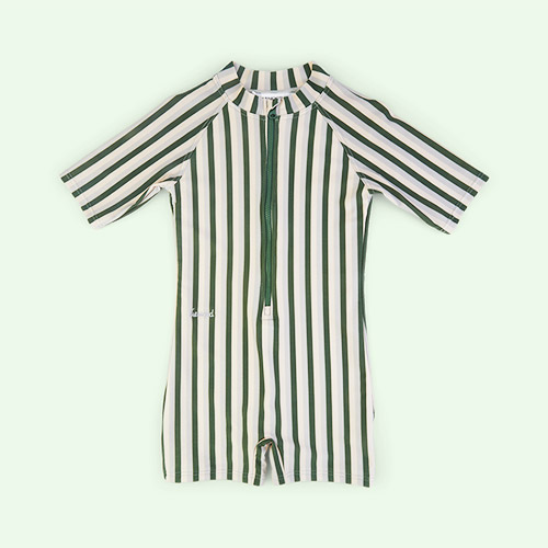 Stripe: Garden green/sandy/dove blue