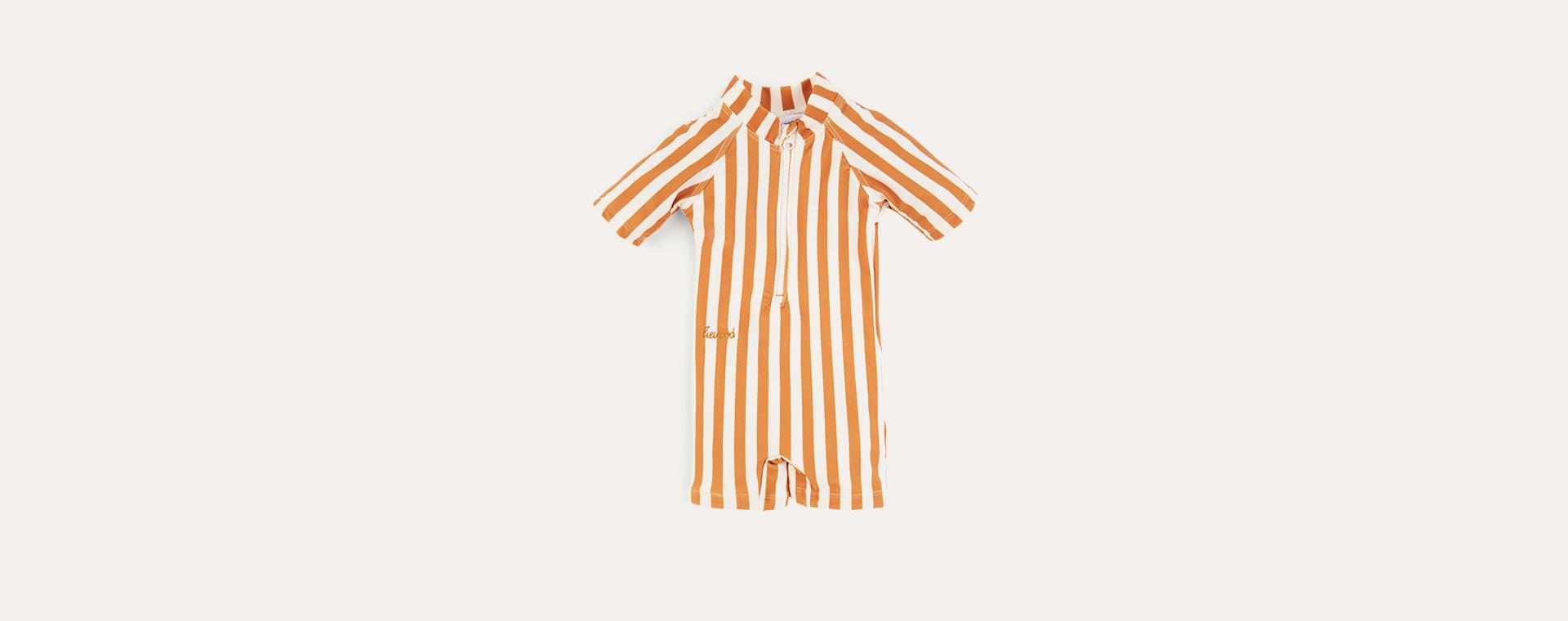 Mustard Stripe Liewood Max Swim Jumpsuit
