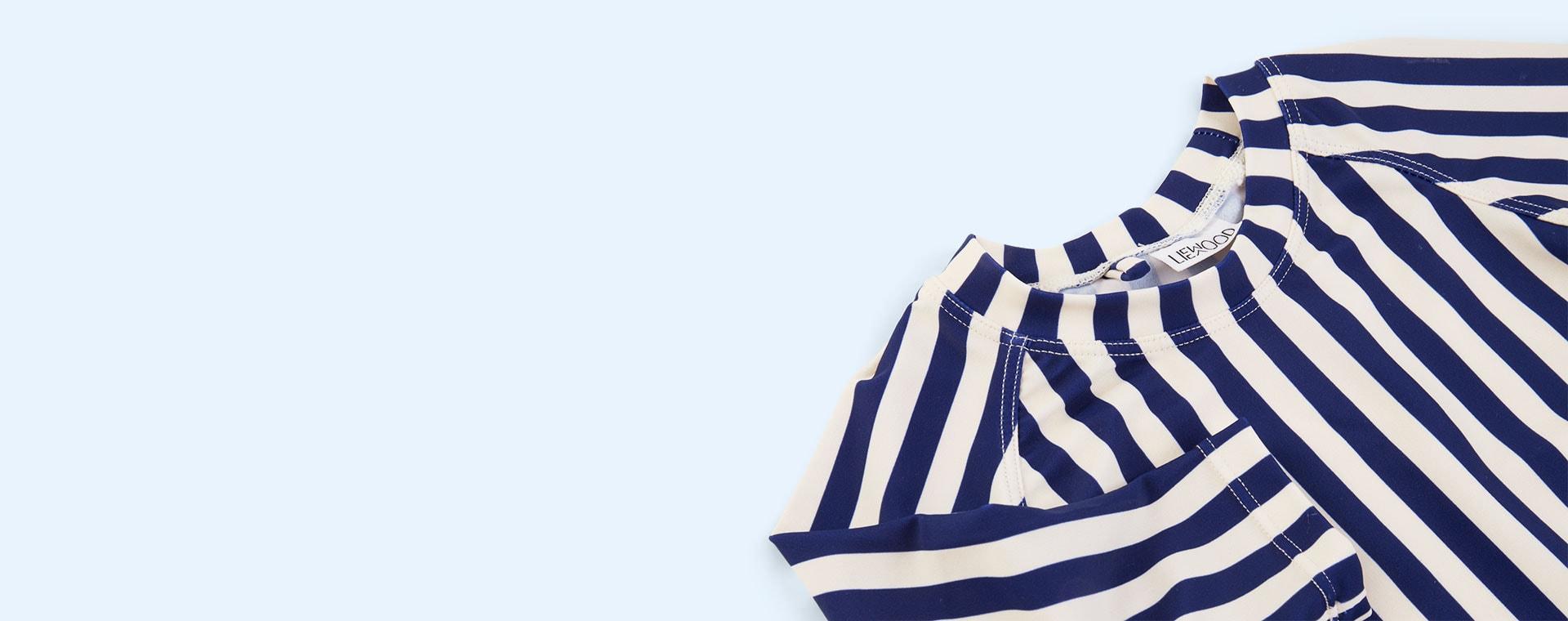 Navy Stripe Liewood Noah Swim Tee
