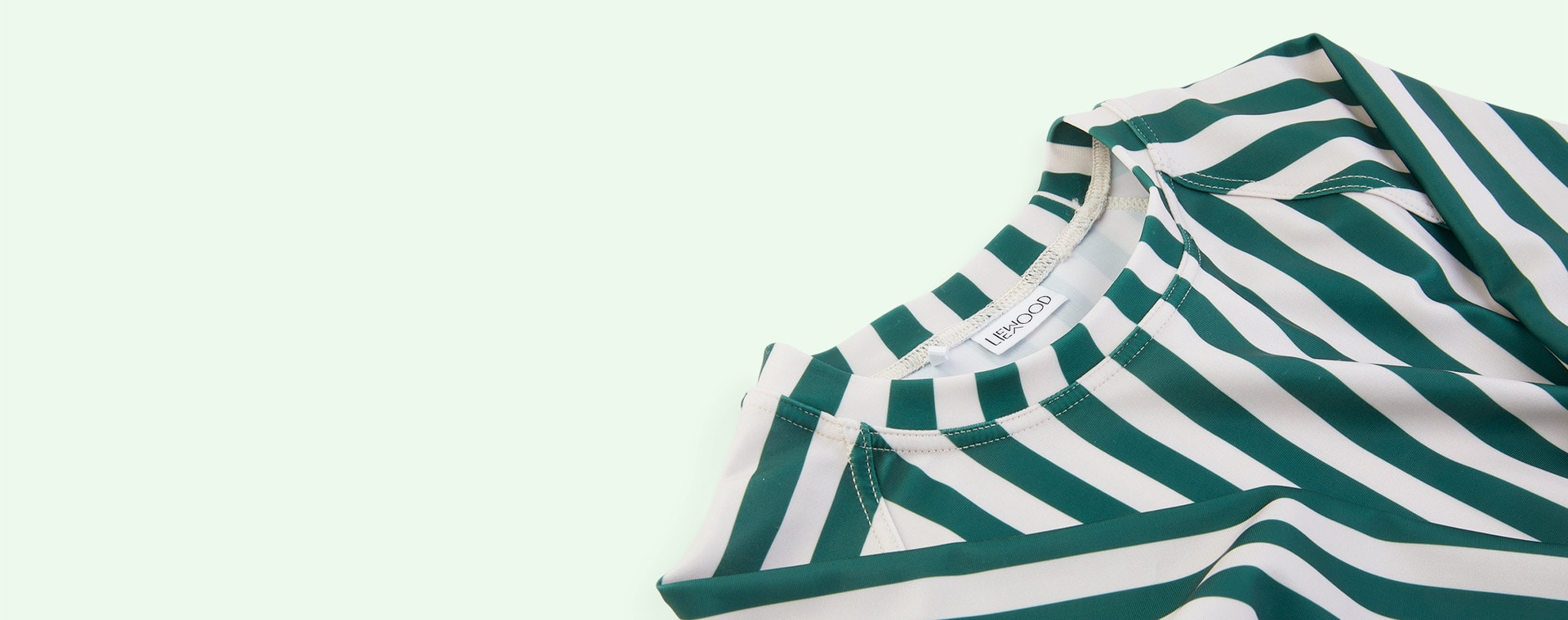 Stripe: Garden green/sandy Liewood Noah Swim Tee