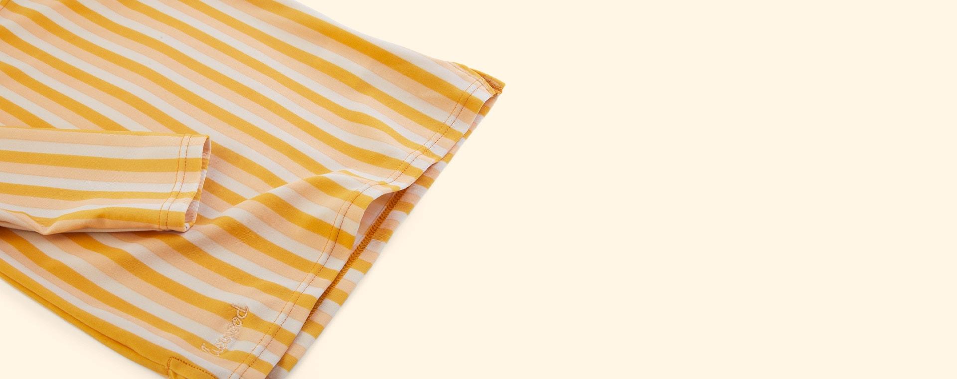 Stripe: Peach/sandy/yellow mellow Liewood Noah Swim Tee