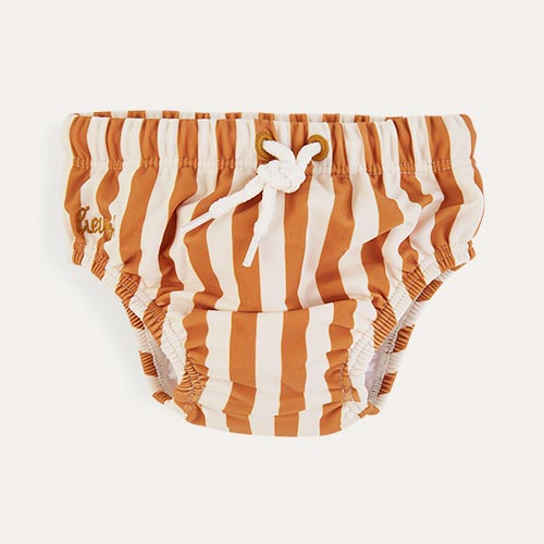 Mustard Stripe Liewood Frej Bloomer Swim Pants