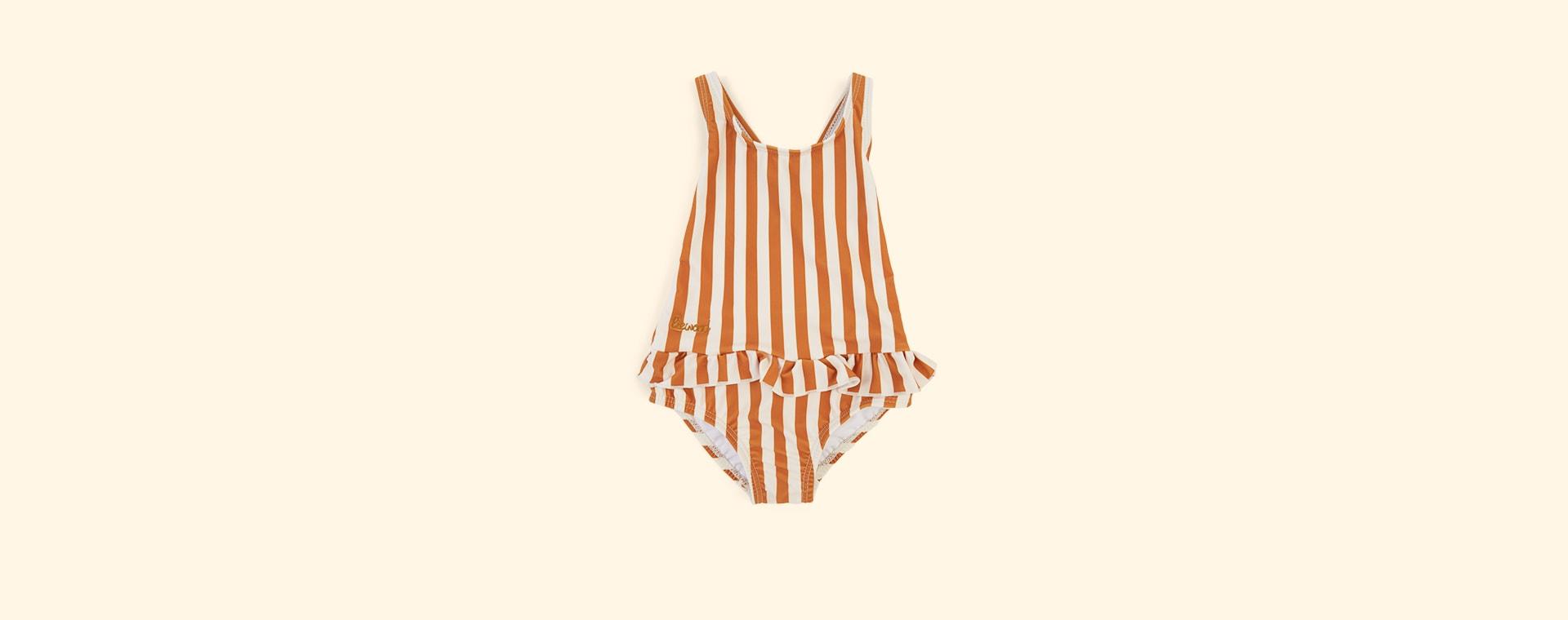Mustard Stripe Liewood Amara Swimsuit