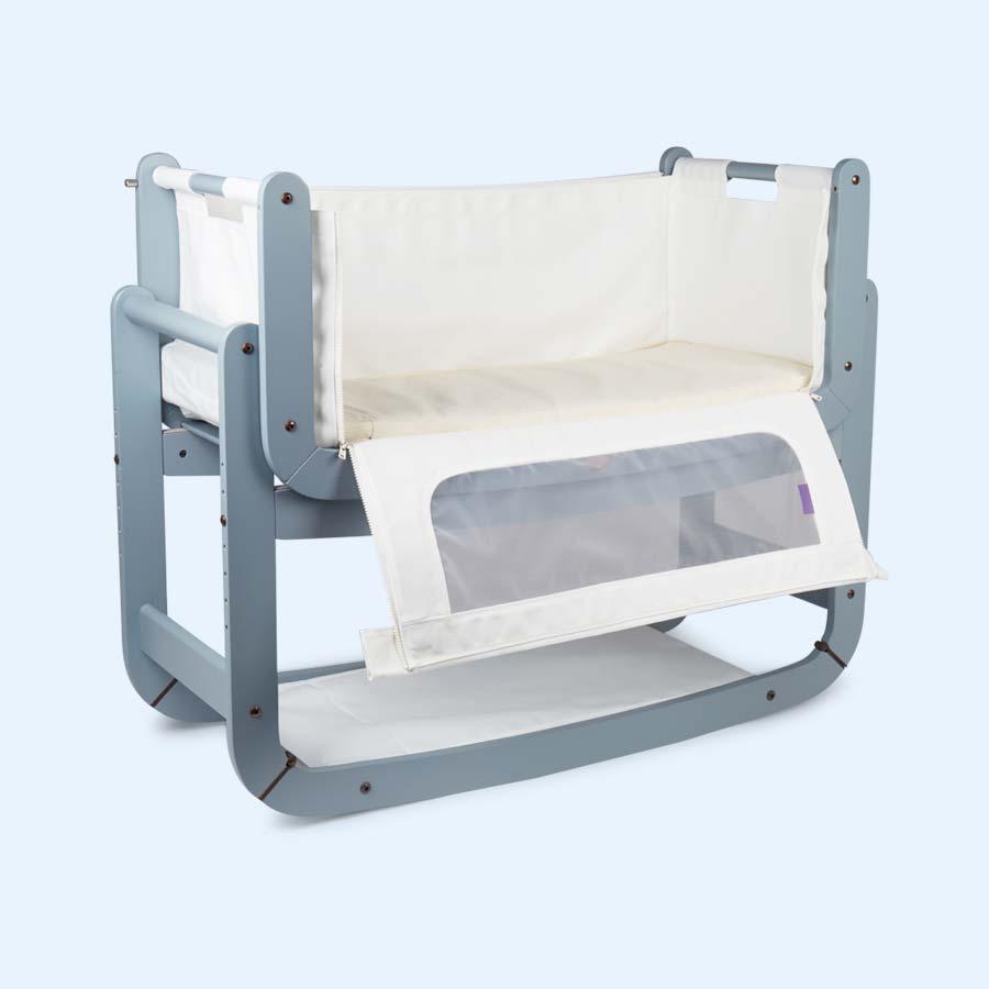 Dove Grey Snuz SnuzPod2 3-in-1 Bedside Crib & Mattress