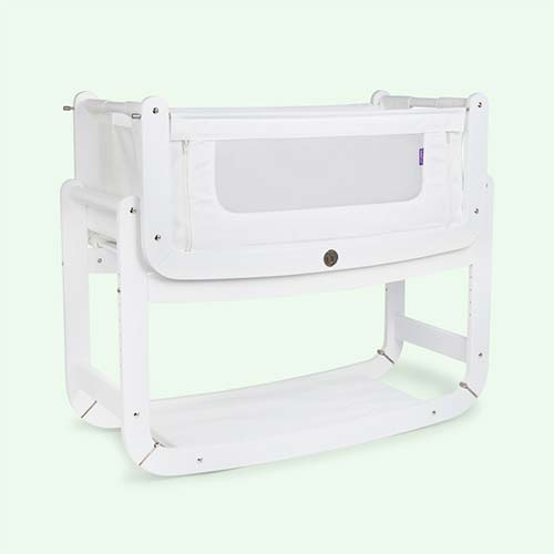 White Snuz SnuzPod2 3-in-1 Bedside Crib & Mattress