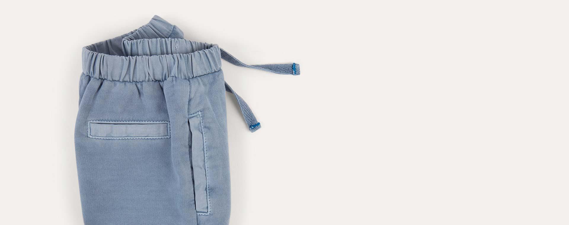 Steel Blue KIDLY Label Washed Jogger