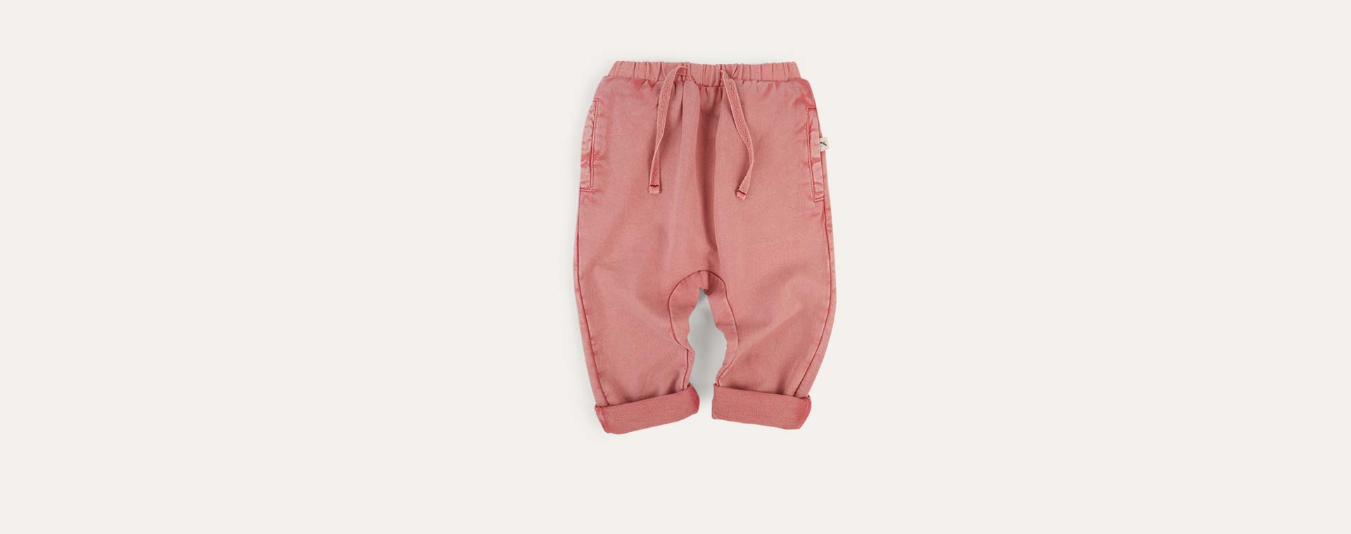 Salmon KIDLY Label Washed Jogger