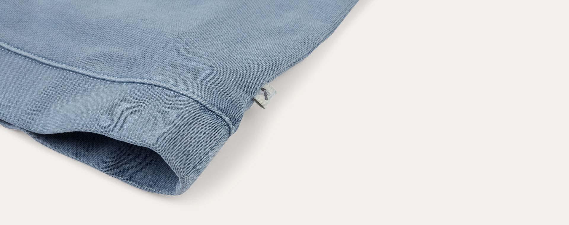 Steel Blue KIDLY Label Washed Sweatshirt