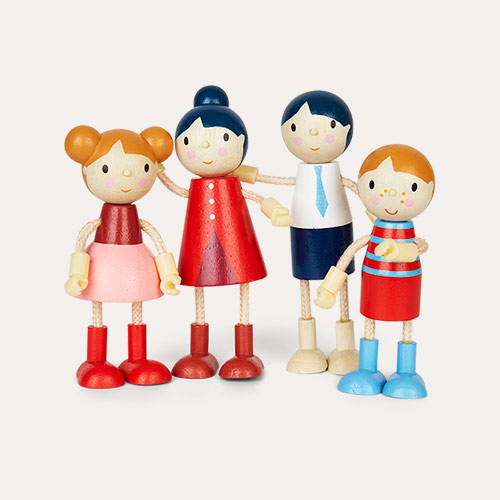 Multi Tender Leaf Toys Doll Family - Flexible