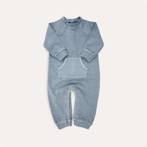 Steel Blue KIDLY Label Washed All-In-One