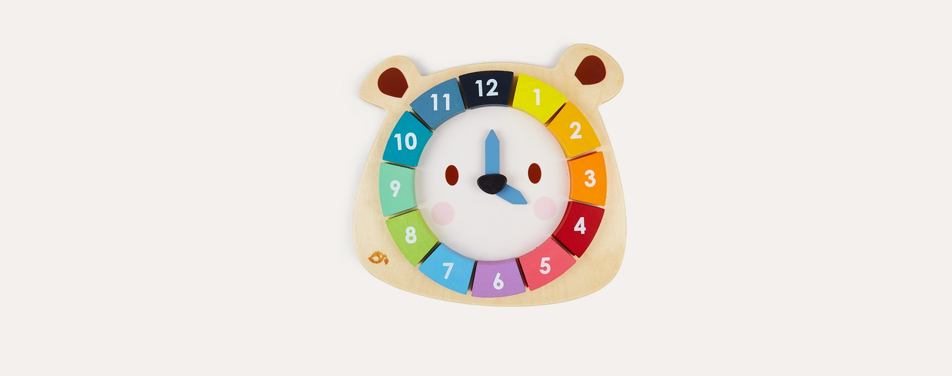 Multi Tender Leaf Toys Bear Colours Clock