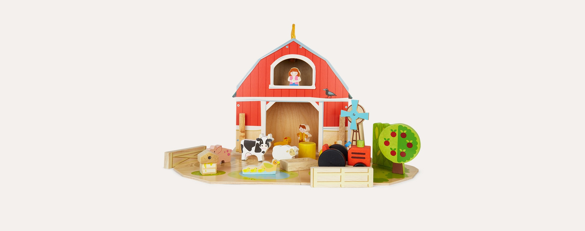 Multi Tender Leaf Toys Baby Barn Set