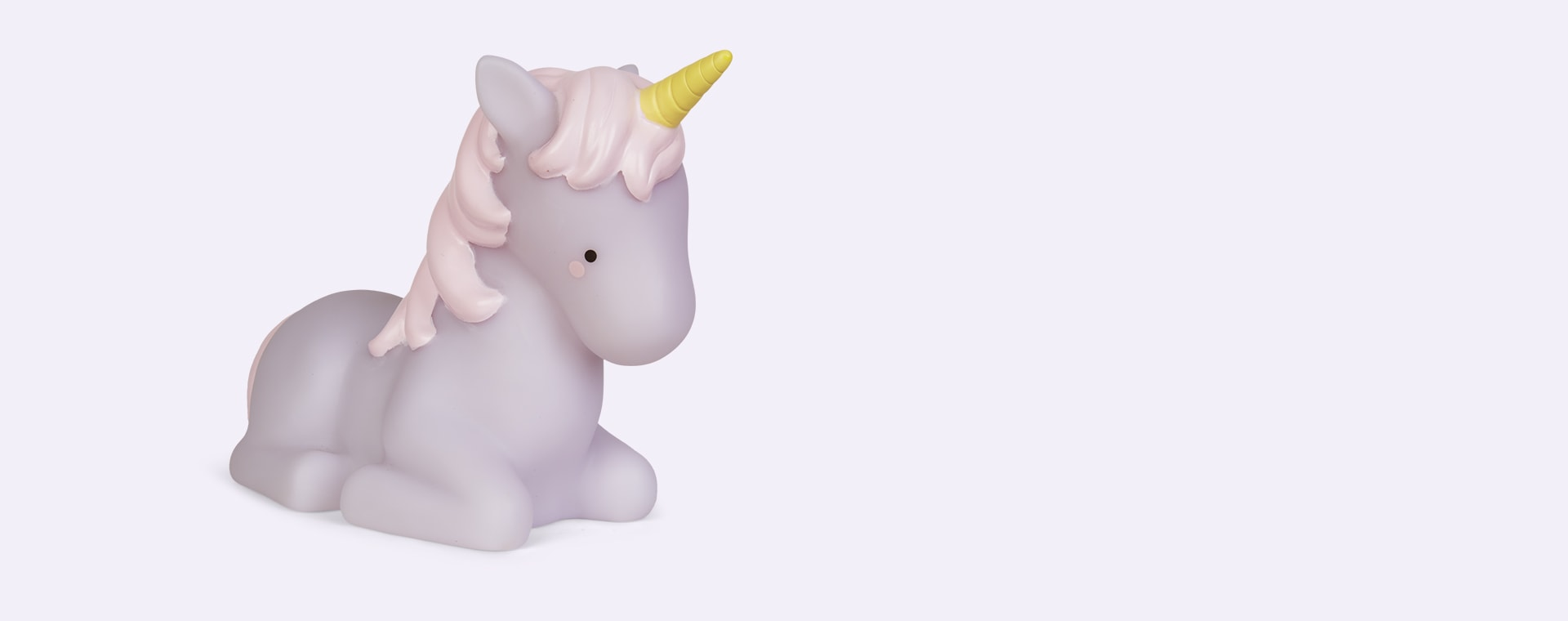 White Lello Teeny & Tiny Unicorn Remote Table Light