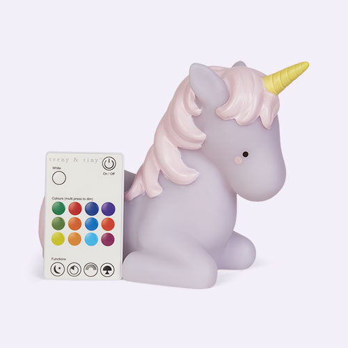 White Lello Teeny & Tiny Unicorn Remote Table Light