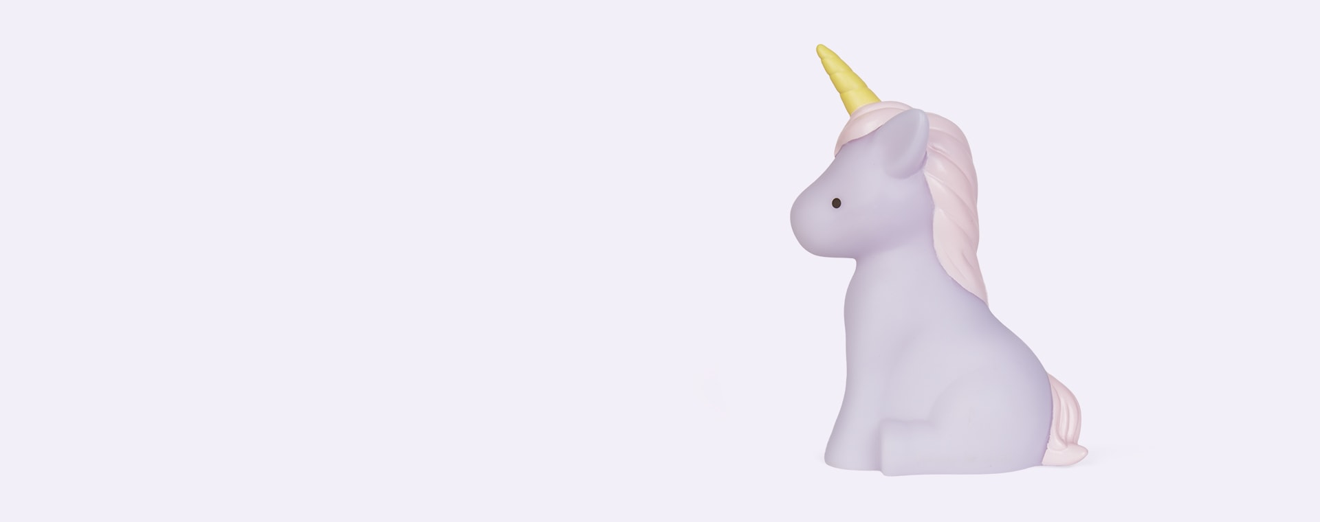 White Lello Teeny and Tiny Unicorn Rechargeable Light