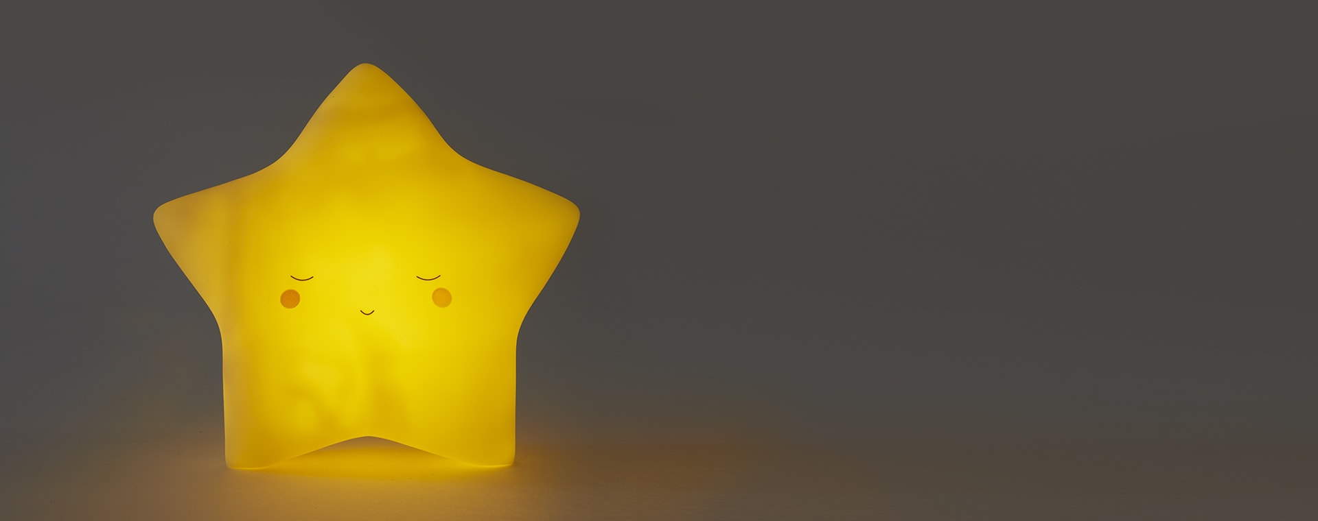 Yellow Lello Star Little Wall Tap Light