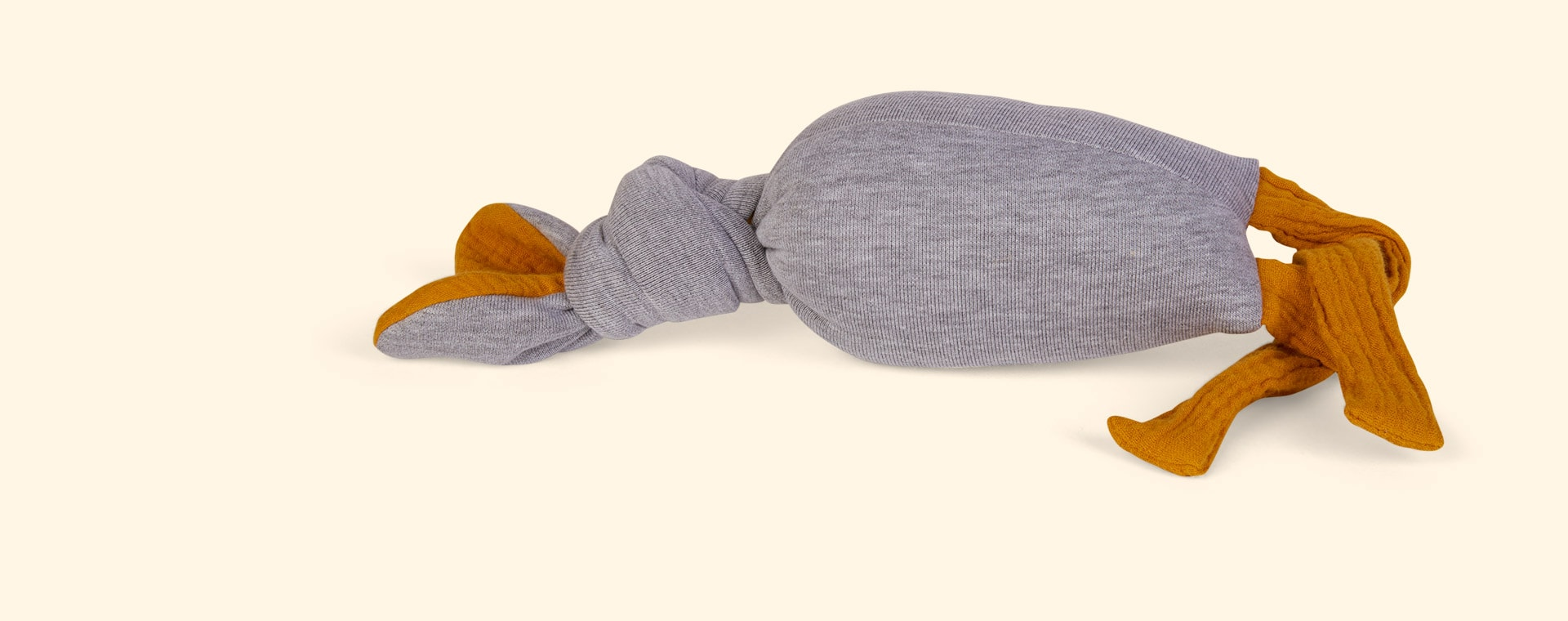 Light Grey nogaravin Muslin Bunny Rattle