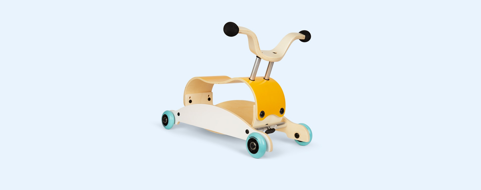 Yellow Aqua White Wishbone Design Studio Mini Flip Ride-On