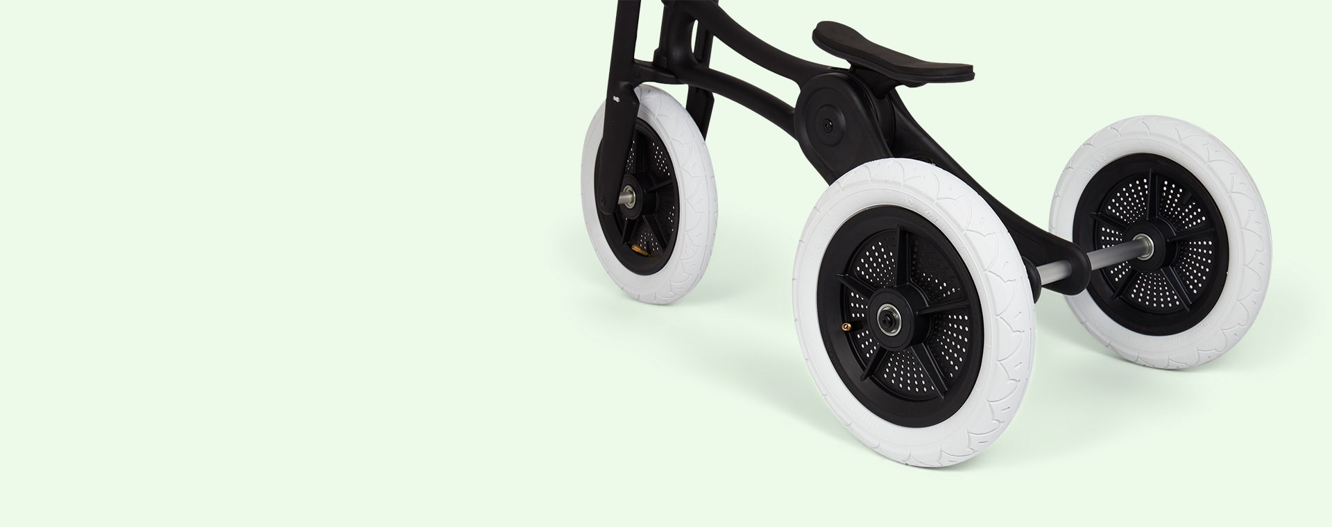 Black Wishbone Design Studio Recycled Edition 3-in-1 Bike
