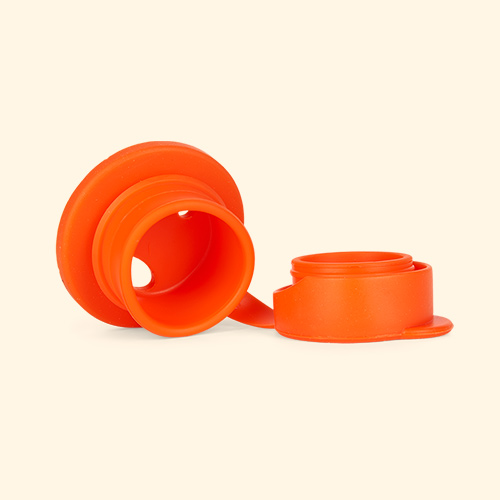 Orange Pura Big Mouth Silicone Sports Top