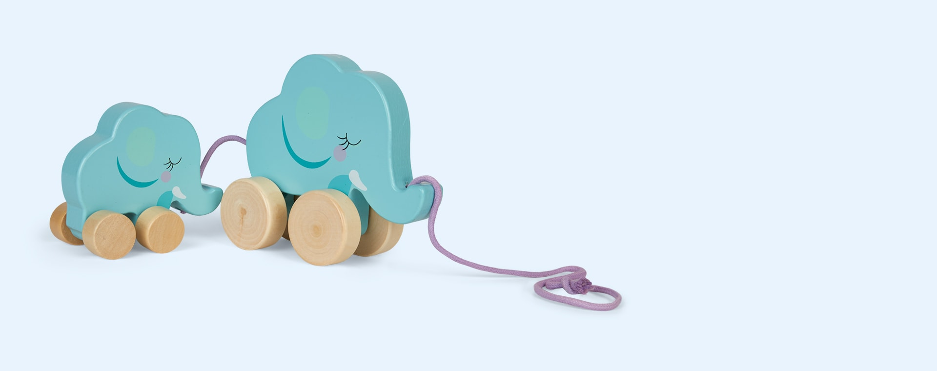 Elephant Sunnylife Family Push And Pull Toy