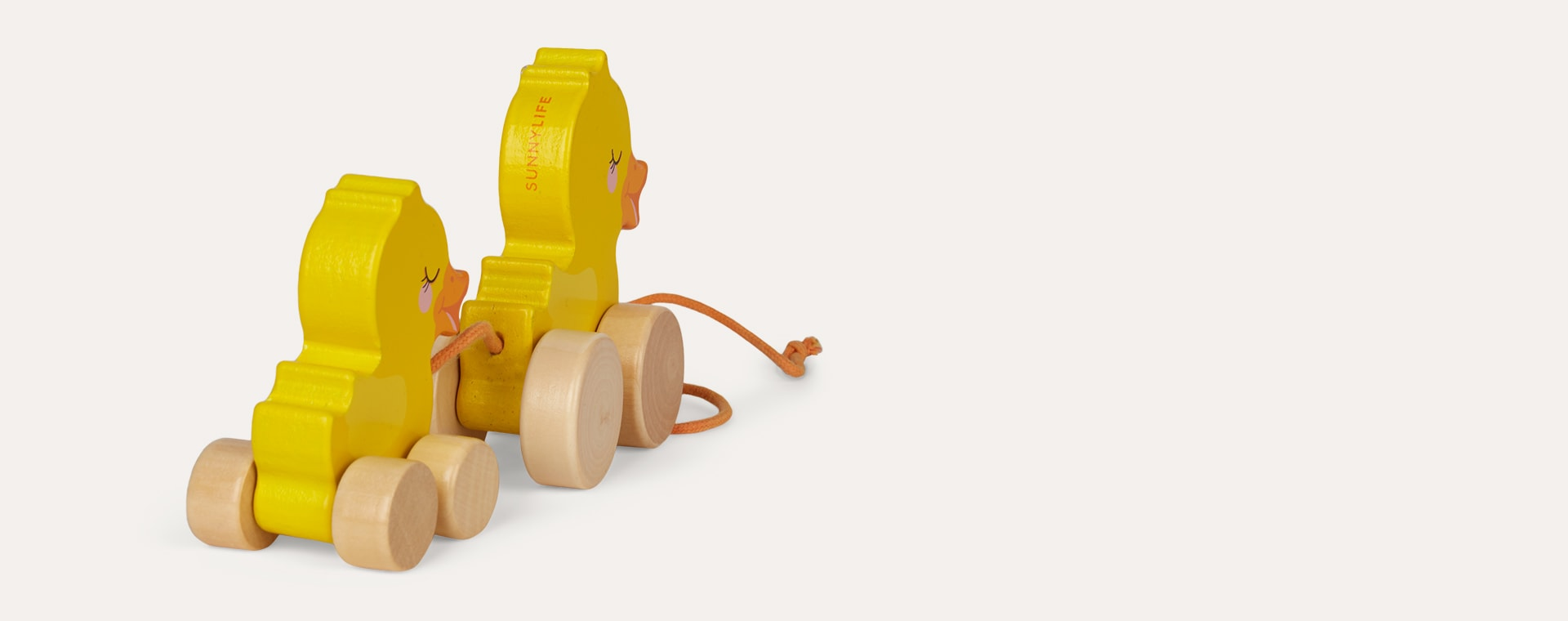 Ducky Sunnylife Family Push And Pull Toy