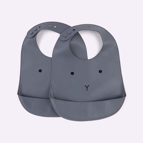 Rabbit Blue Wave Liewood Tilda Silicone Bib 2 Pack