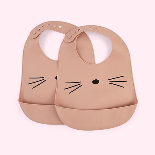 Cat Rose Liewood Silicone Bib 2 Pack