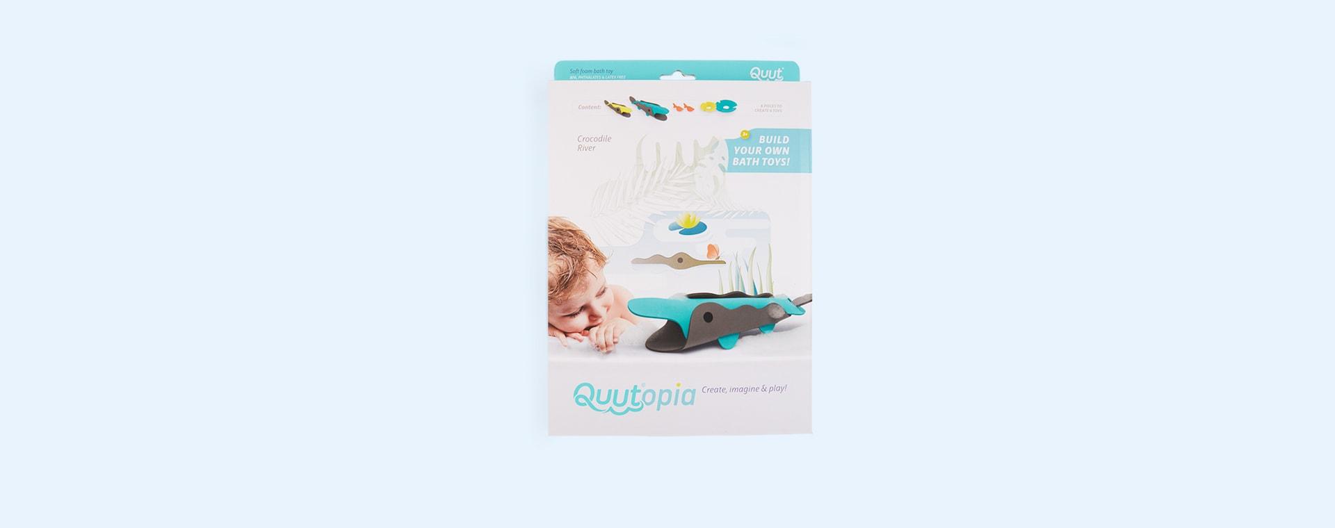 Crocodile River Quut Soft Foam Bath Toy Set
