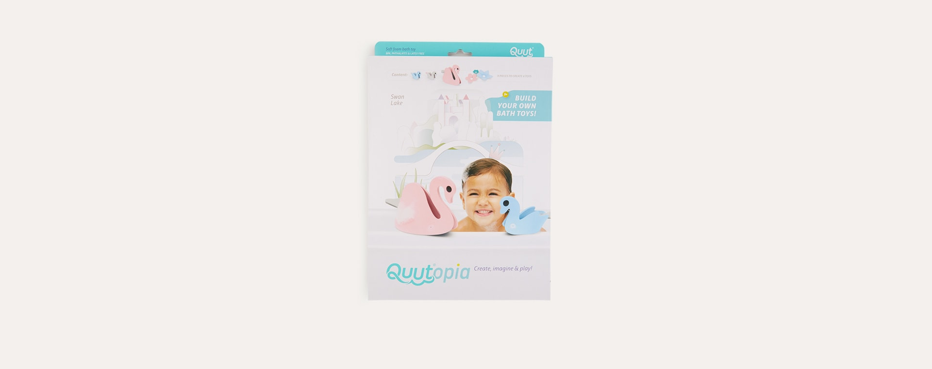 Swan Lake Quut Soft Foam Bath Toy Set