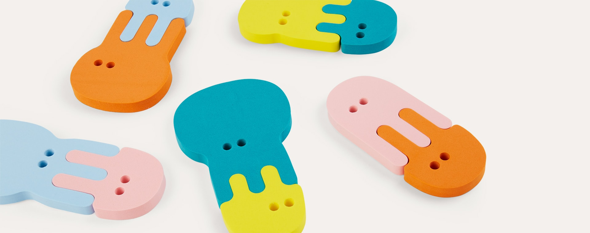 Jellyfish Quut Soft Foam Bath Puzzle