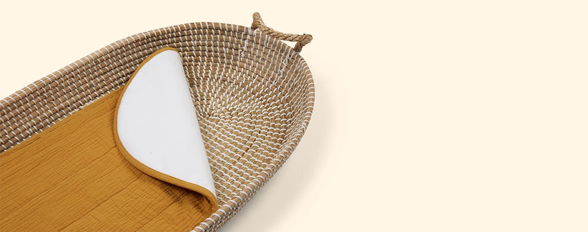 Mustard Olli Ella Changing Basket Cotton Insert - Luxury