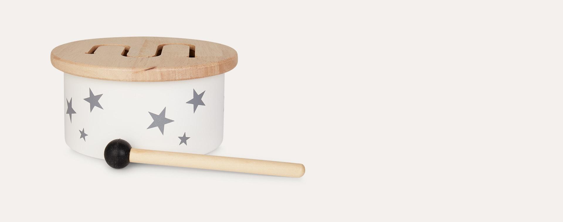 Neutral Kid's Concept Wooden Mini Drum