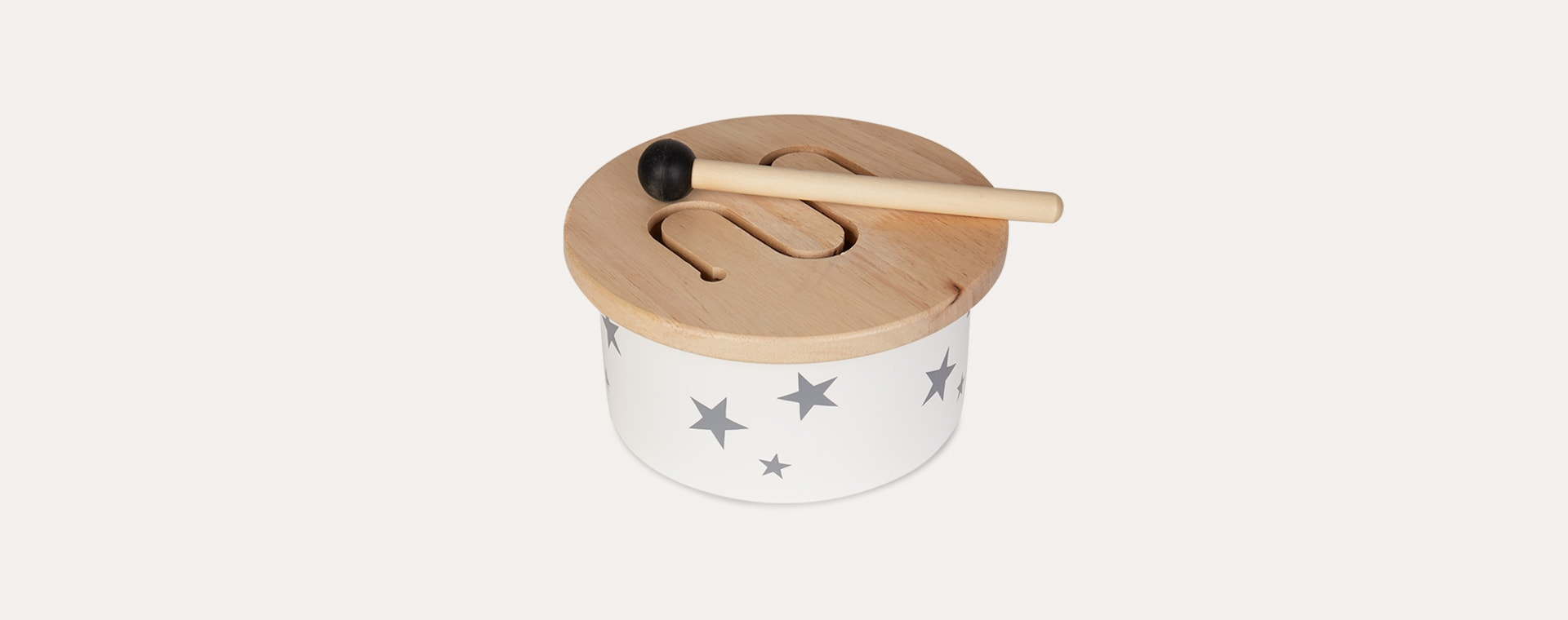 Neutral Kid's Concept Wooden Mini Drum