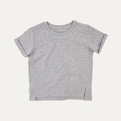 Grey Marl KIDLY Label Slub Tee