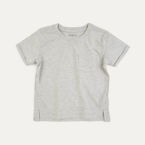 Oatmeal KIDLY Label Perfect Tee