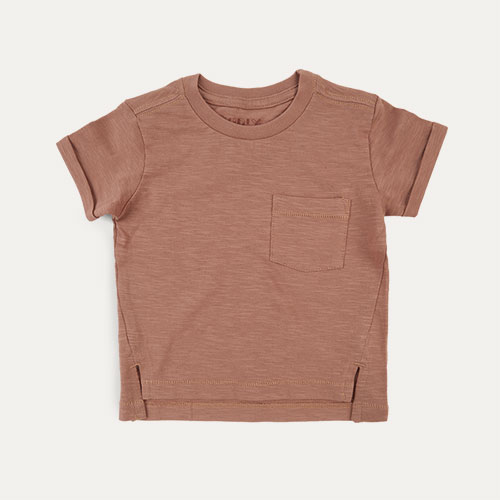 Burlwood KIDLY Label Slub Tee