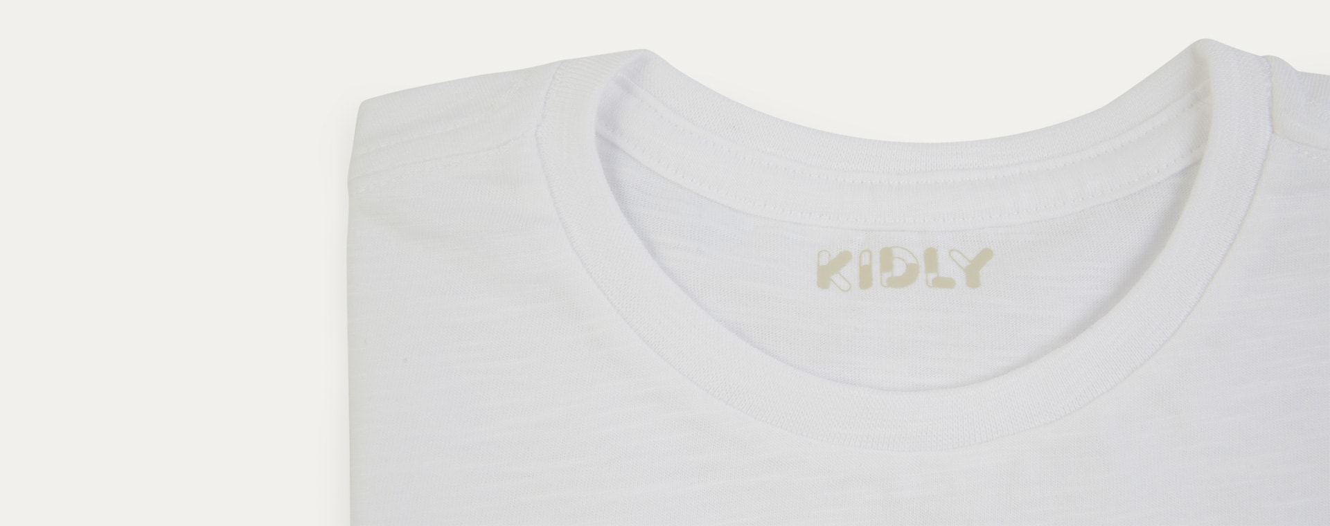 White KIDLY Label Perfect Tee