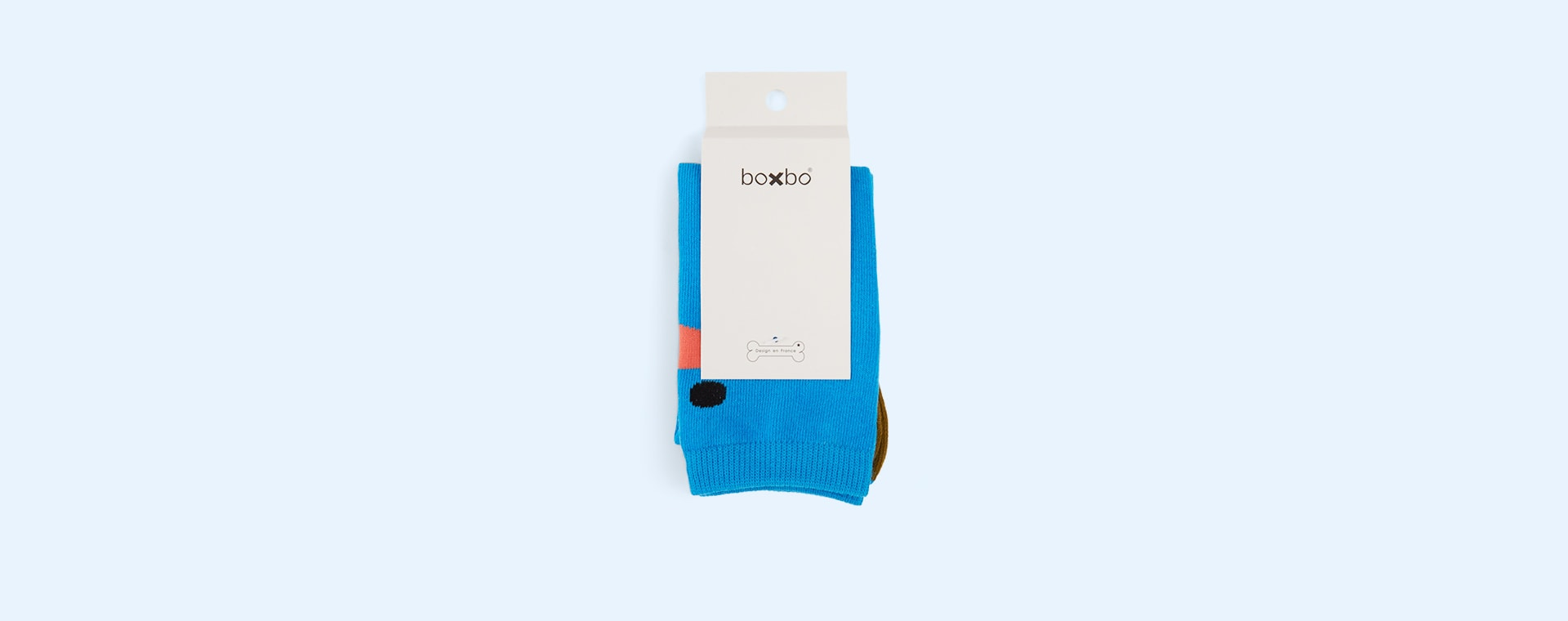 Blue Boxbo Wistiti High Sock