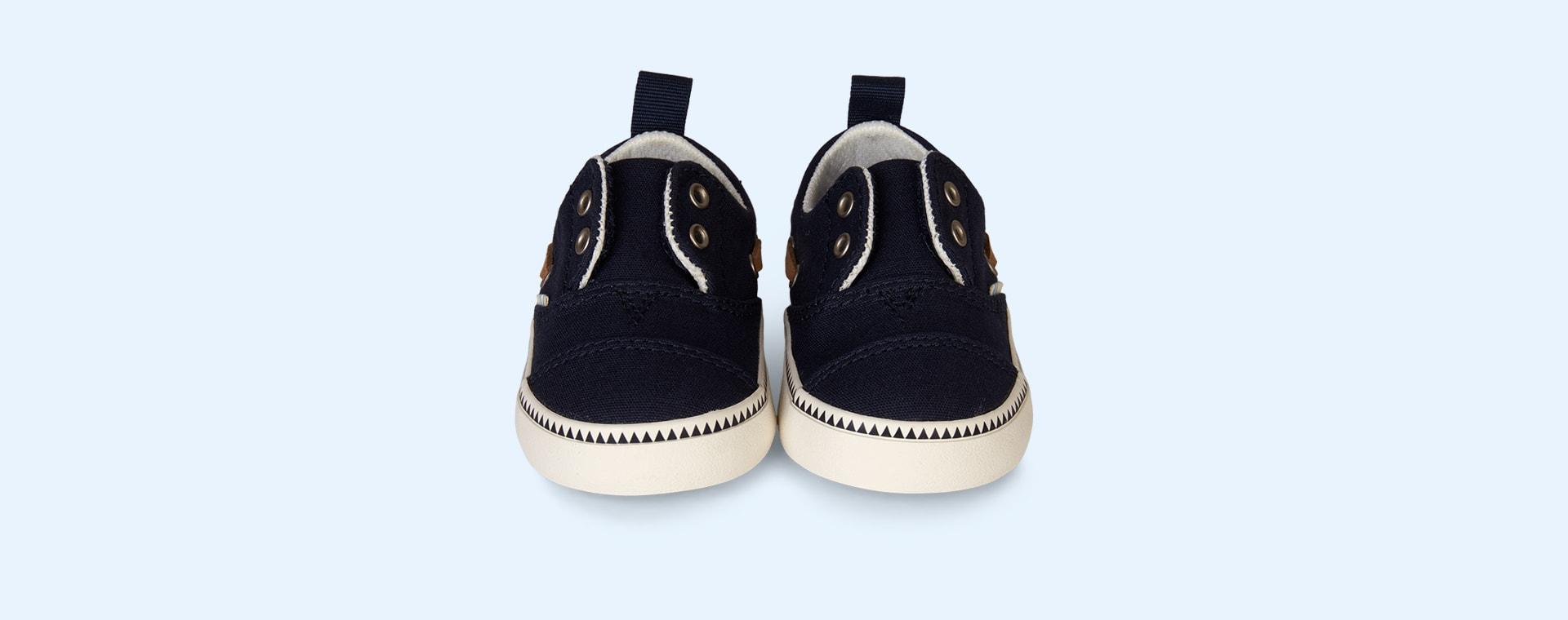 Navy TOMS Pasadena Slip-Ons