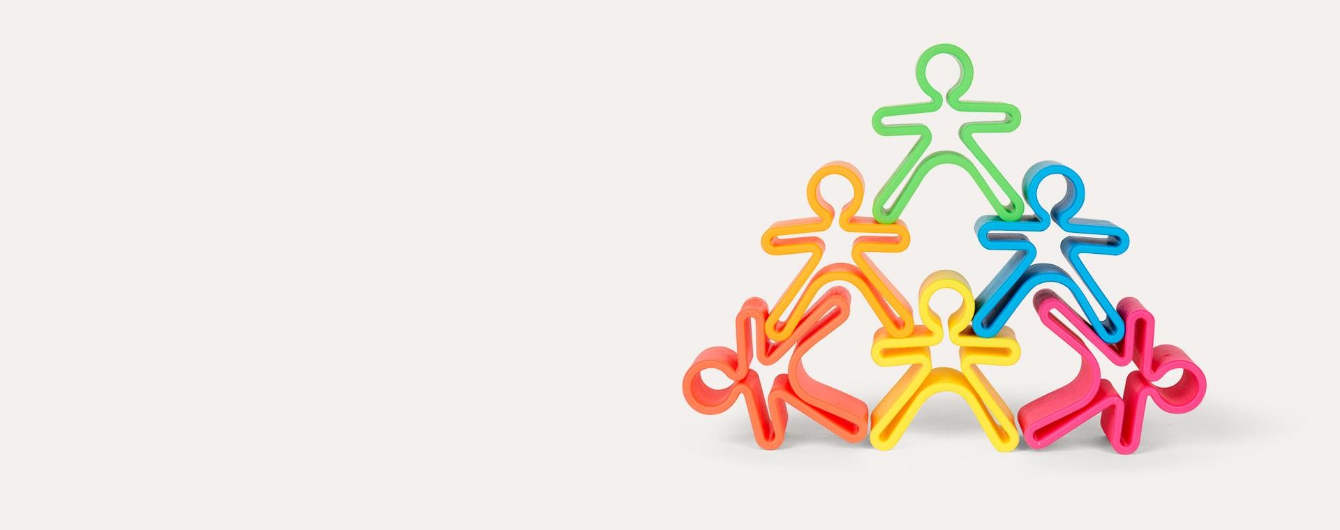 Multi Dëna 6 Piece Set Neon People