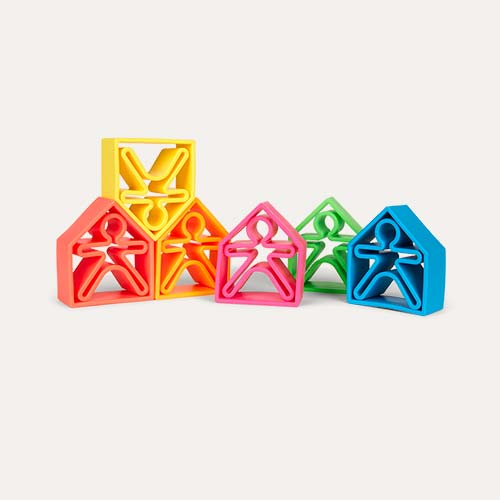 Multi Dëna 12 Piece Set Neon Houses & People