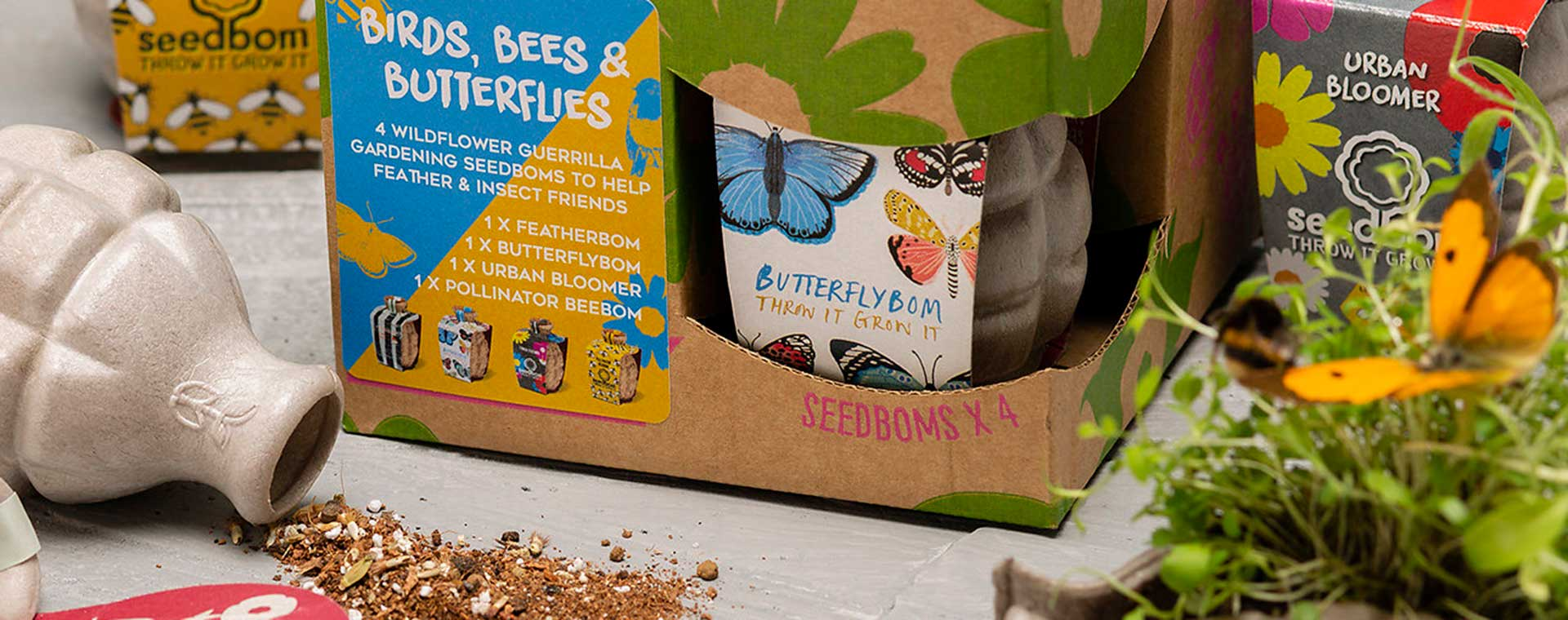 Birds, Bees & Butterflies Seedbom Birds, Bees & Butterflies Seedbom Gift Box