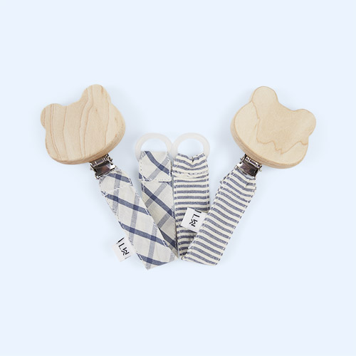 Blue Mix Liewood Pacifier Strap