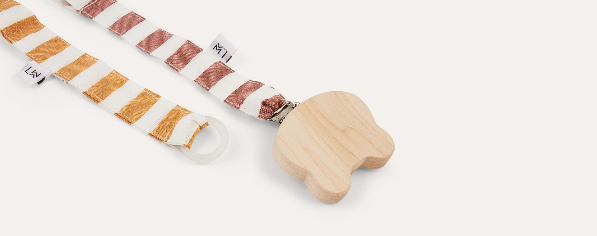 Mustard/Rusty Liewood Pacifier Strap