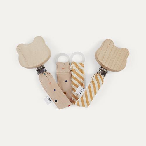 Confetti Mix/Mustard Stripe Liewood Pacifier Strap